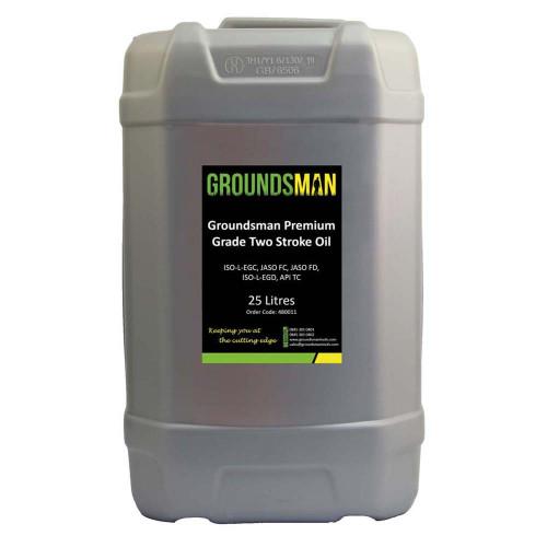 Groundsman Premium Grade Two Stroke Oil, 25 Litre