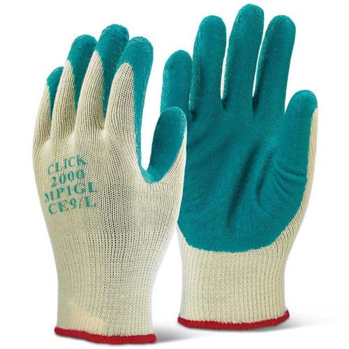 Premium Latex Palm Gloves Green, Size M