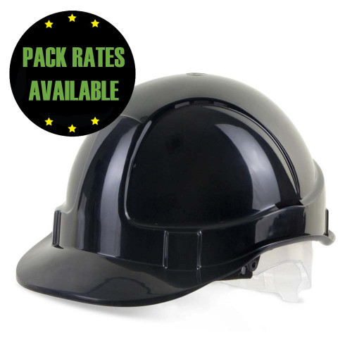 Black Vented Hard Hat