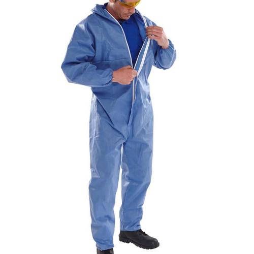 Blue Chemical Resistant Disposable Spraysuit