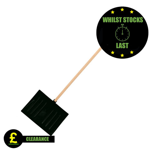 Contract Plastic Snow Scoop, Black *Clearance*