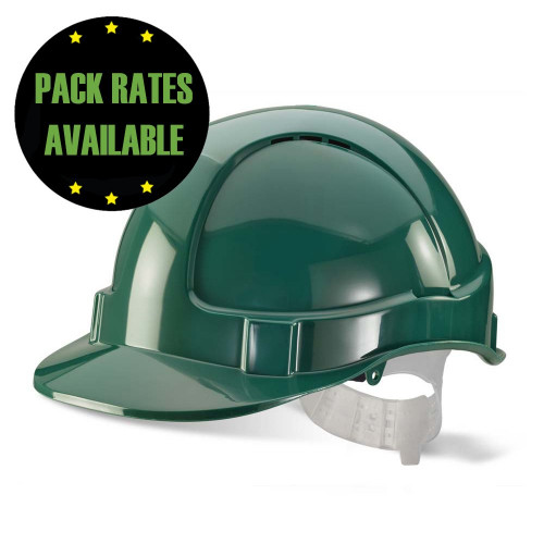 Green Vented Hard Hat