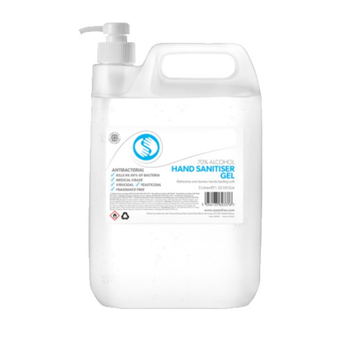 Hand Sanitiser Gel - 5 Litre Bottle
