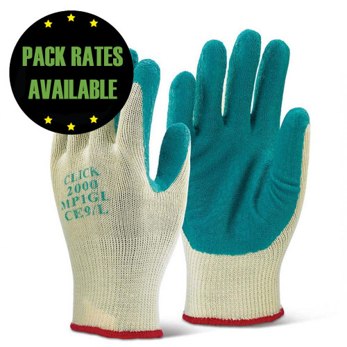 Premium Latex Palm Gloves Green