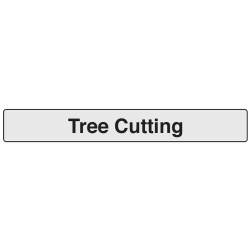 Quazar Roll Up Supplement Plate - Tree Cutting (to fit 040007)