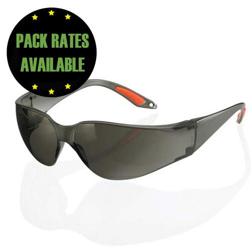 Vegas Wraparound Safety Spectacles - Dark Tinted
